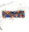 Boucles d'oreilles artisanales réalisées en papier coloré
