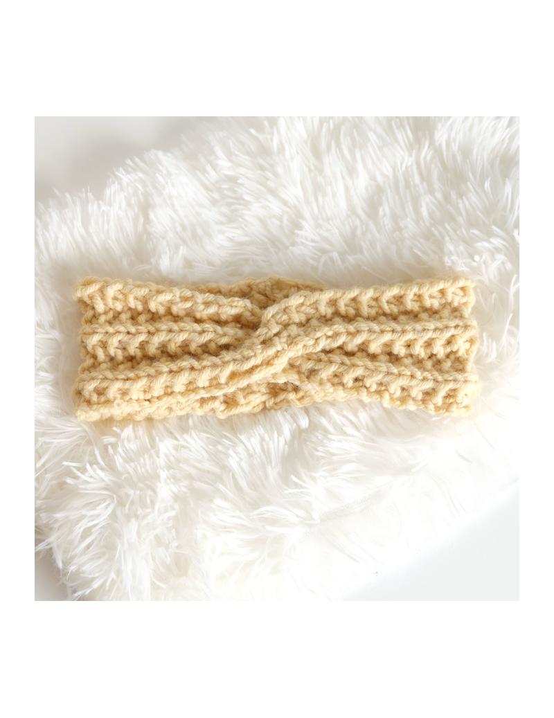 Bandeau jaune en laine