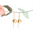 Boucles d'oreilles réalisées à partir de tirette recyclée