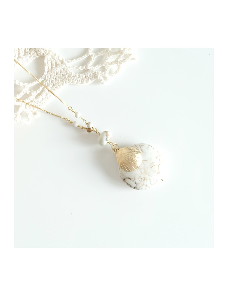 Golden plated long necklace