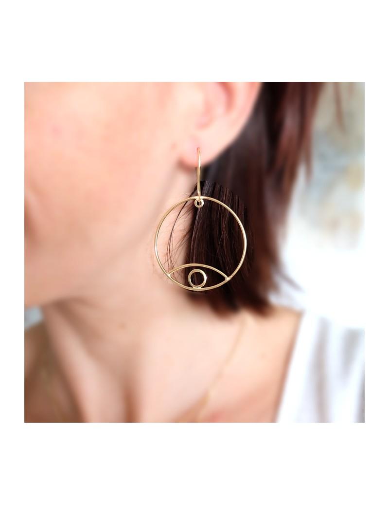 Boucles d'oreille Oeil