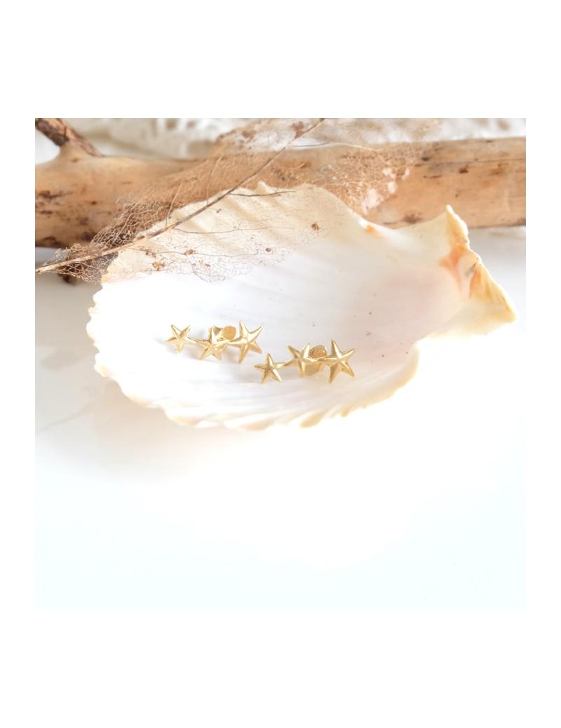 Golden plated star earrings
