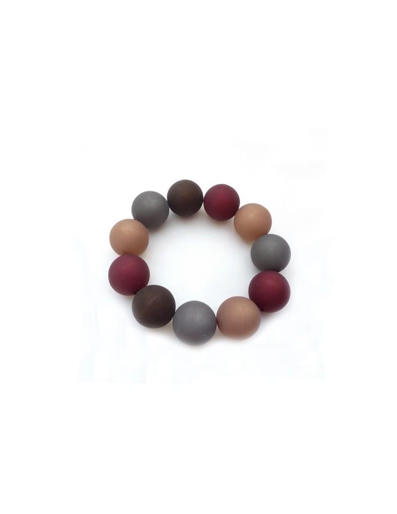 Bracelet en résine mat brun...
