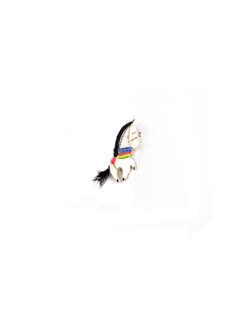 Broche épingle colorée