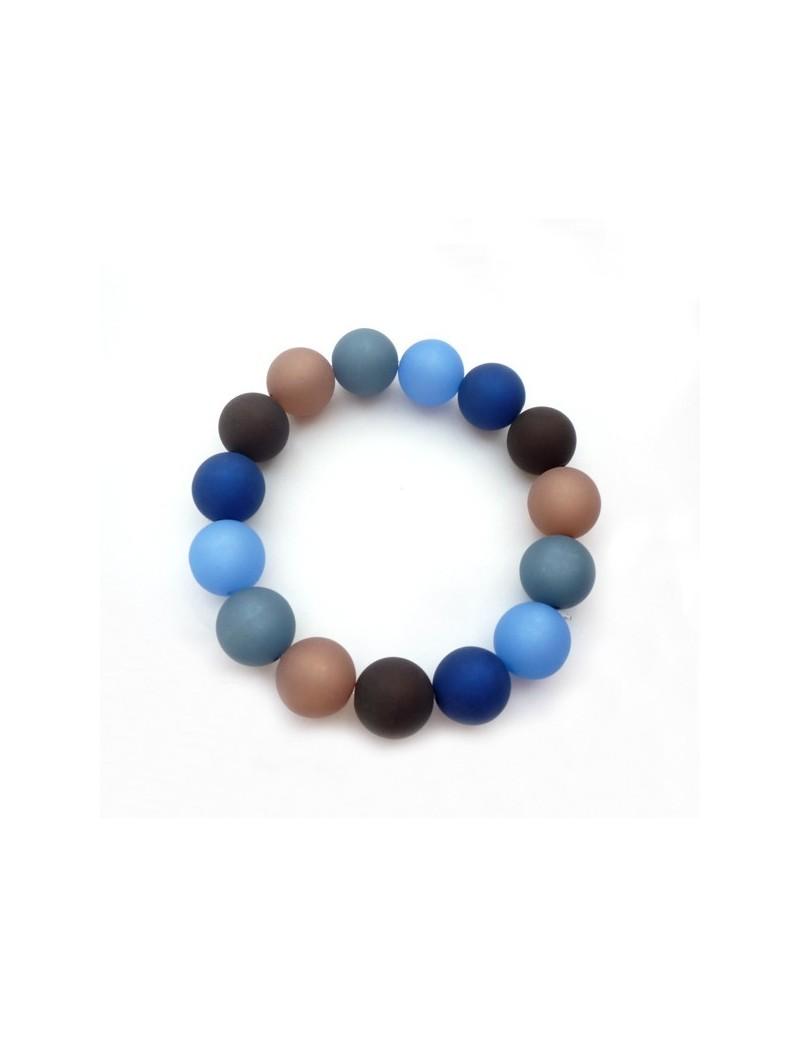 Bracelet coloré en résine mat