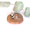 Bracelet en cuir et perles turquoises