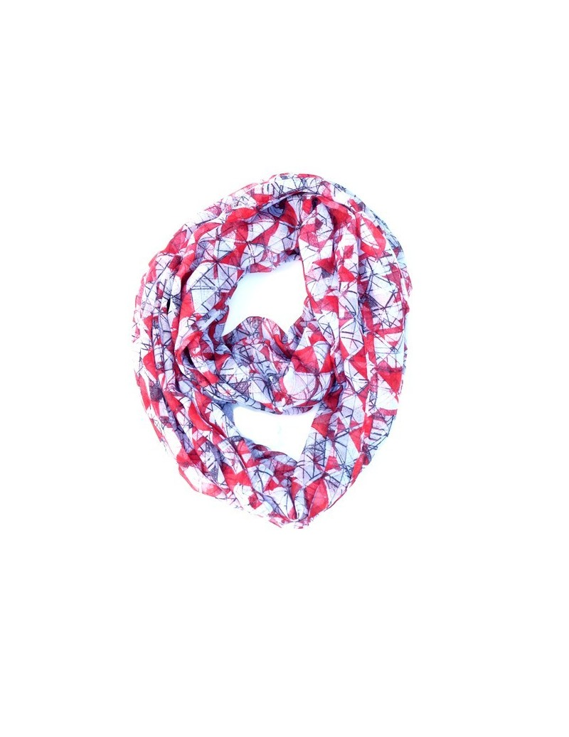 Scarf snood in red and...