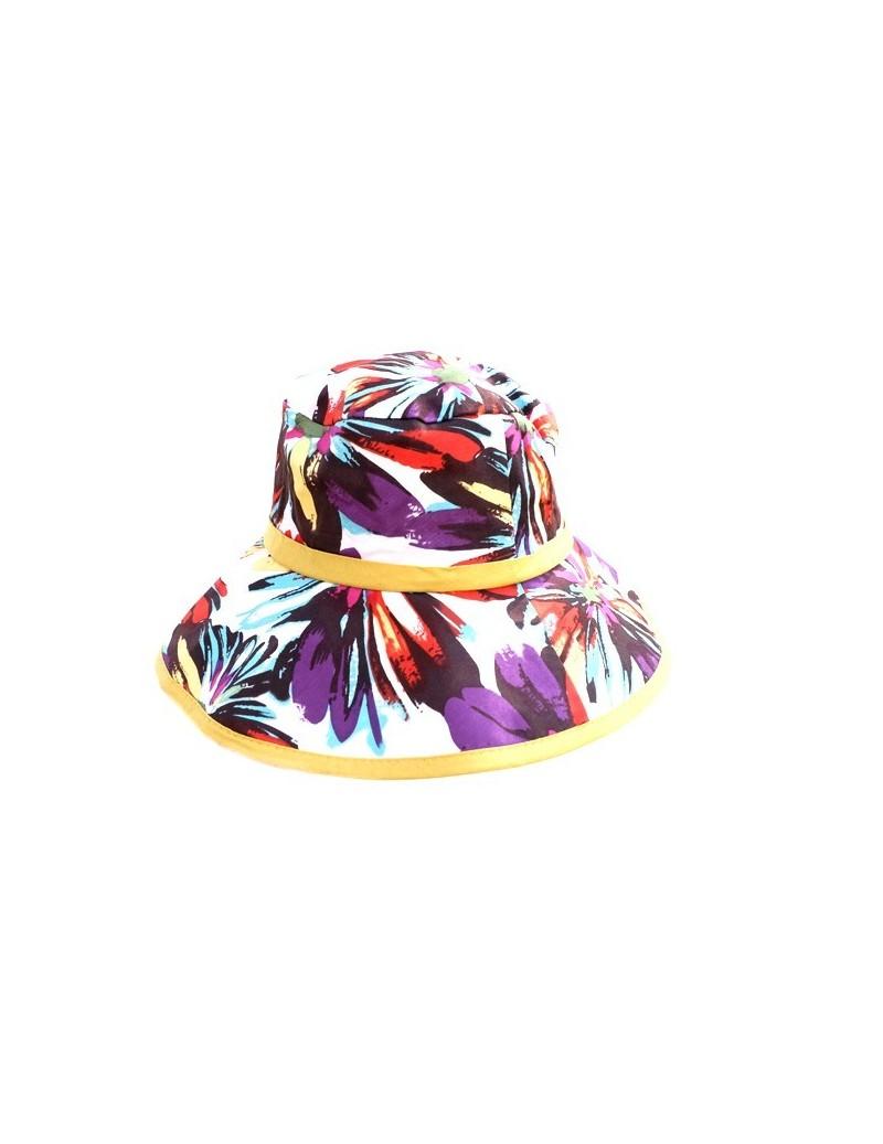 Chapeau en coton fleuri et...