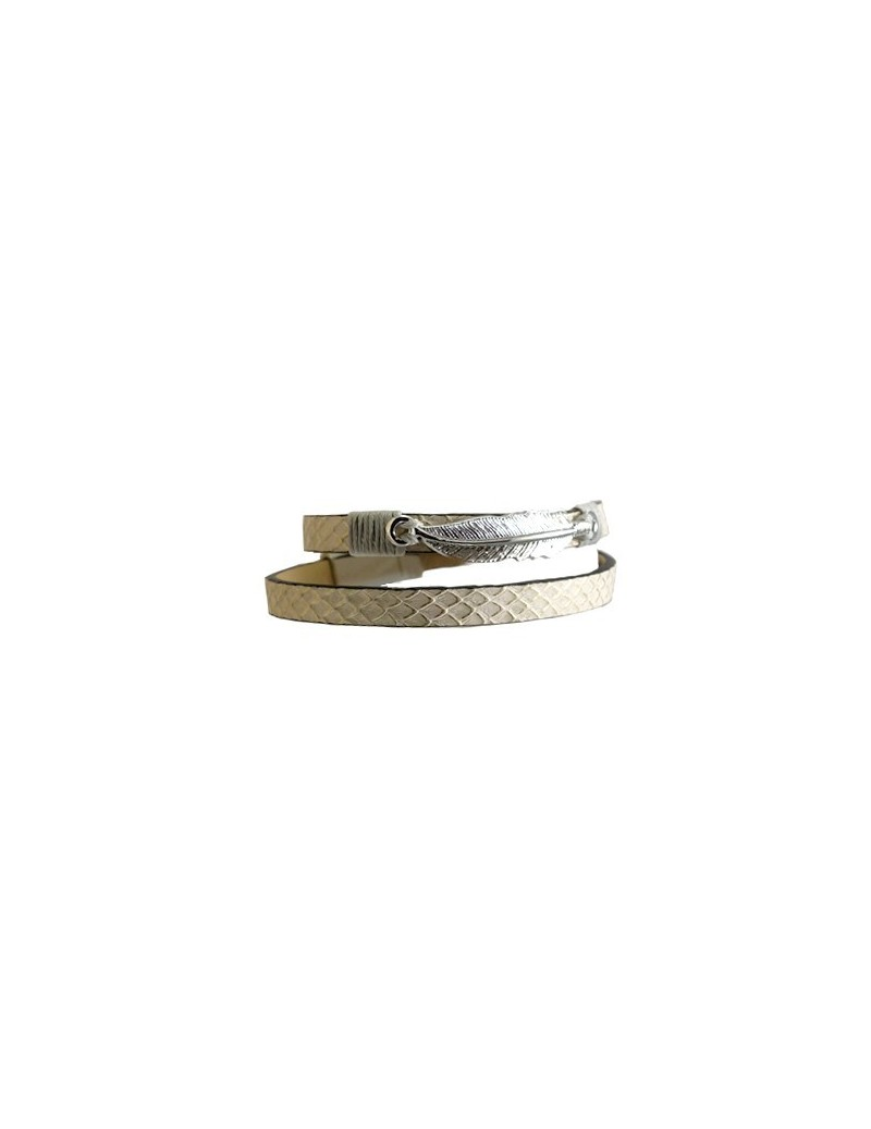 Bracelet double avec plume