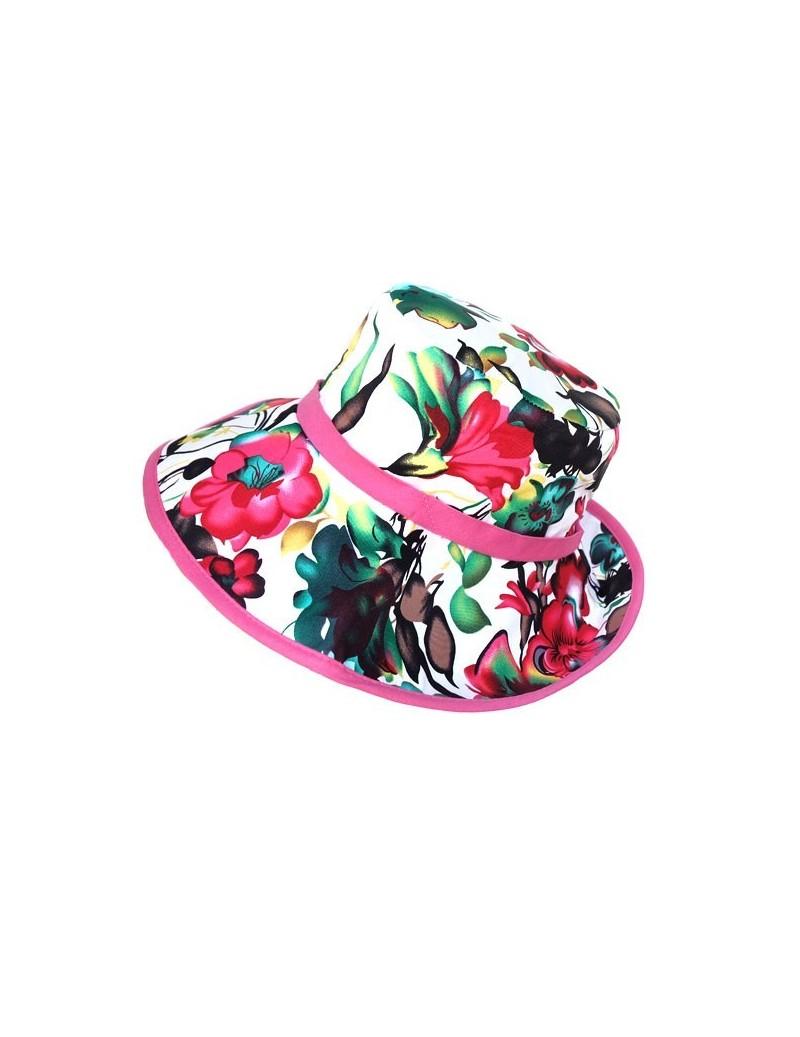 Chapeau en coton à fleurs...
