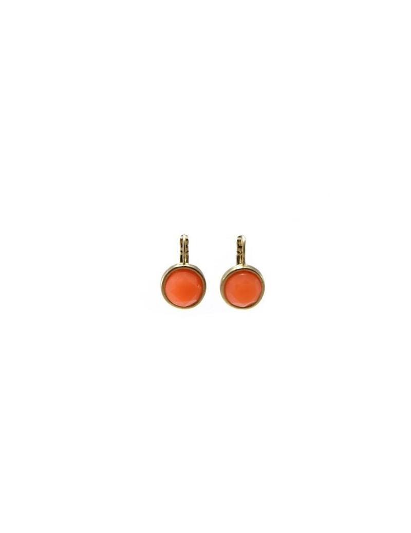 Boucles d'oreille orange à...