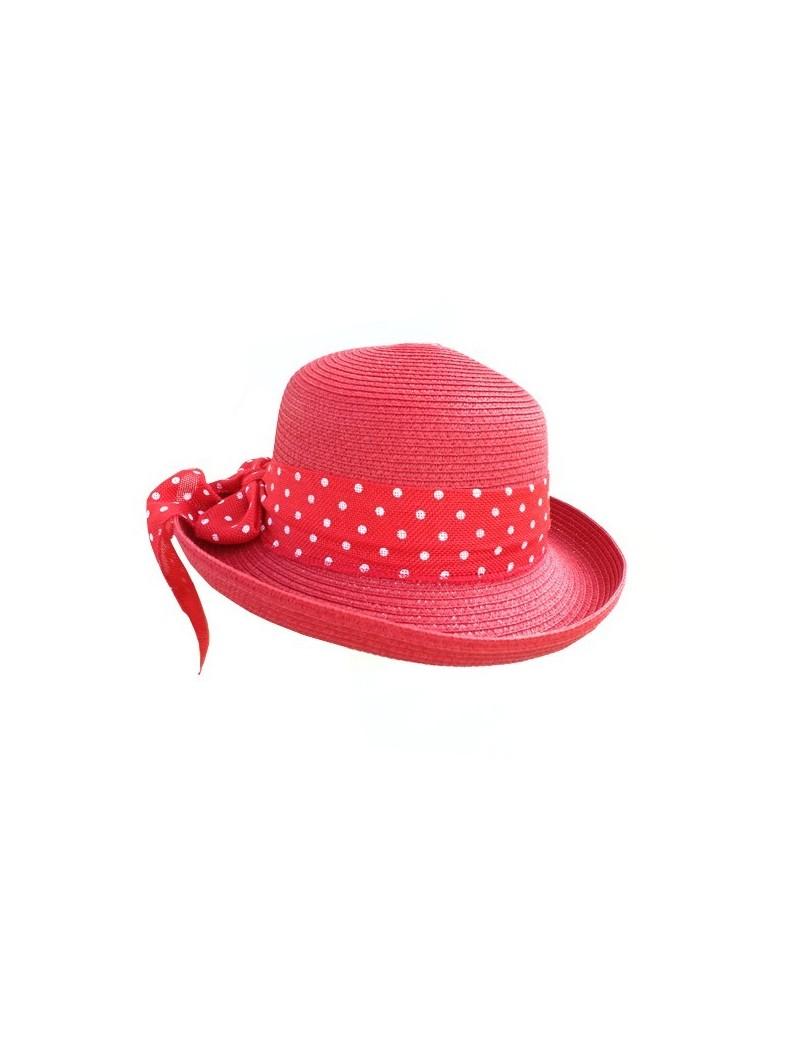 Chapeau en paille rouge...