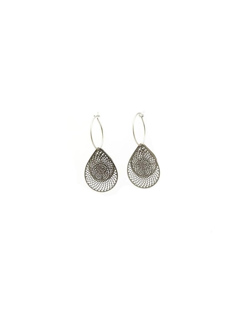 Boucles d'oreille en métal...
