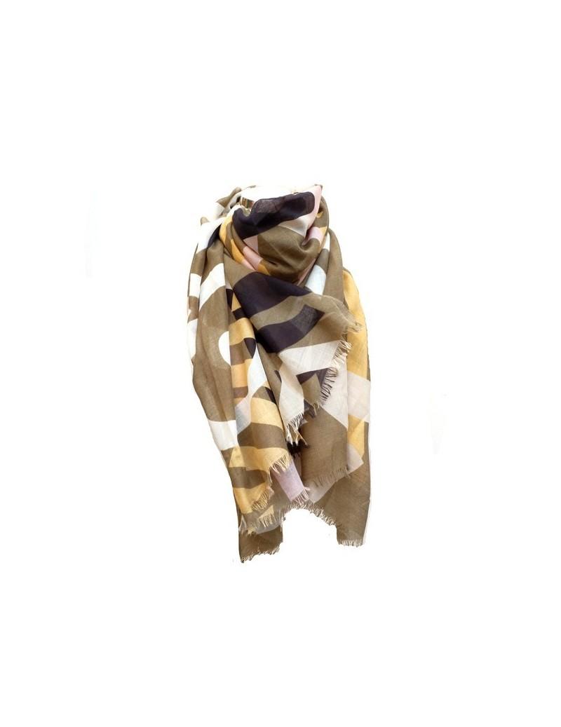 Foulard en coton coloré