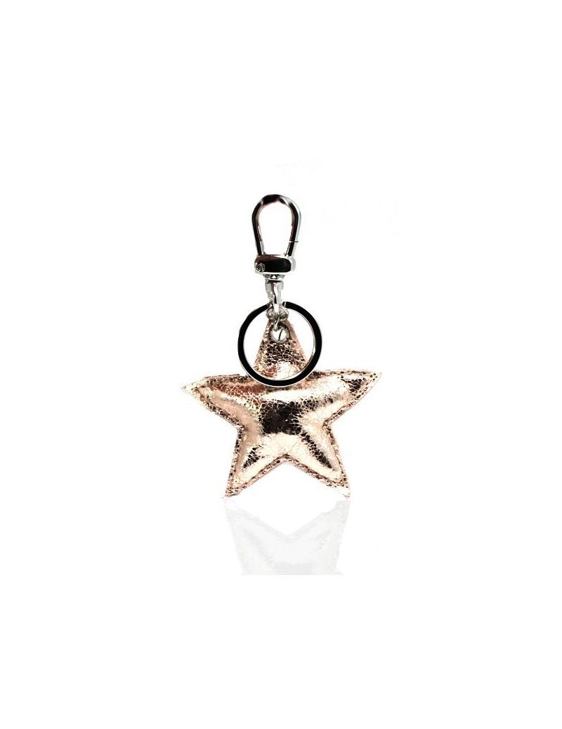 Porte-clés étoile coloré irisé