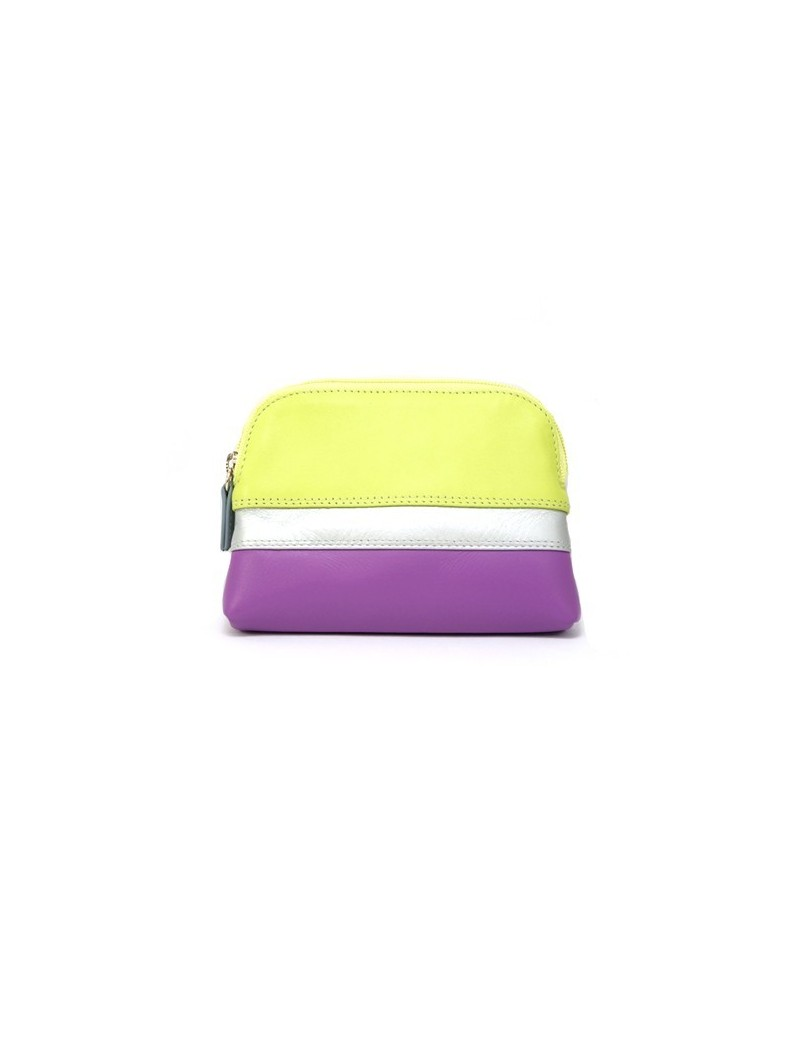 Colorful leather coin purse