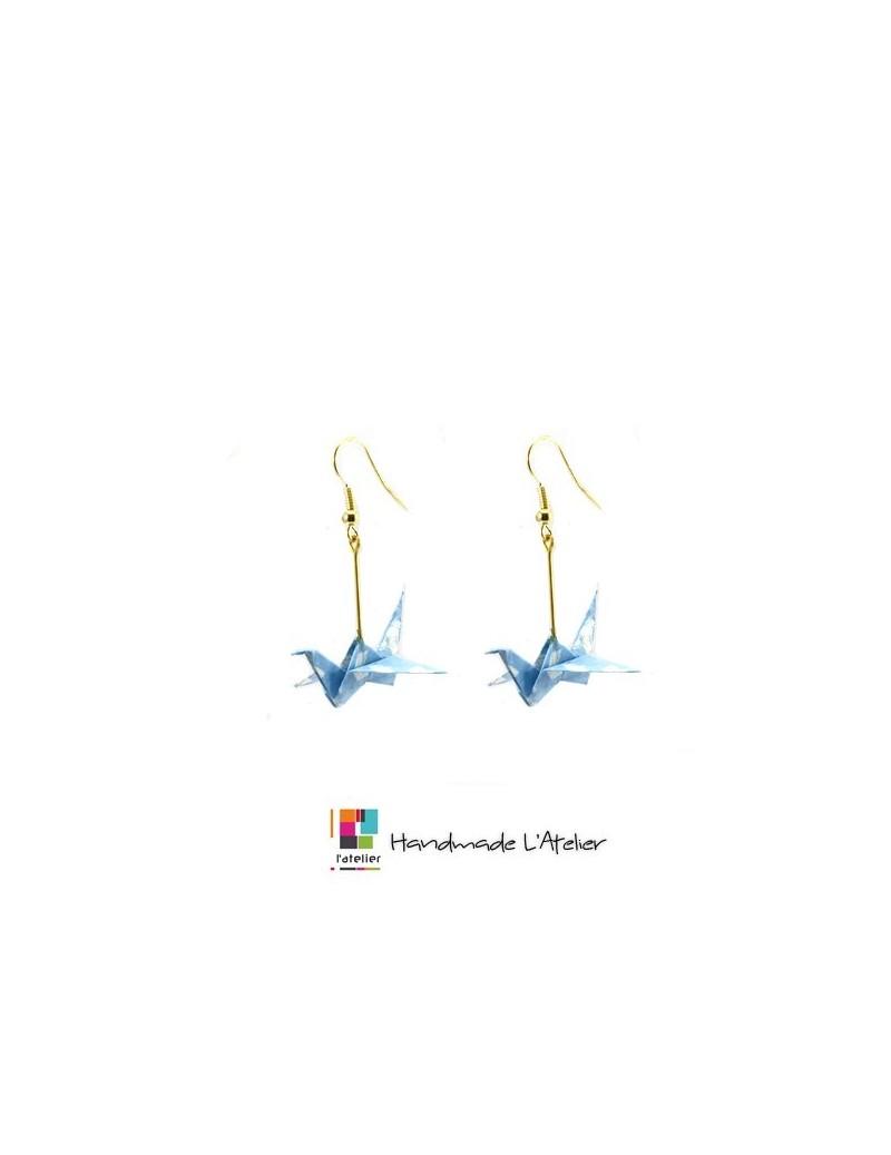Boucles d'oreille origami...