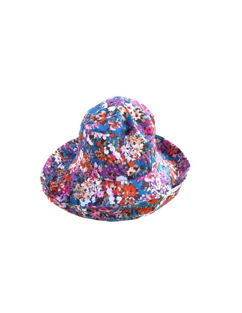Chapeau en coton fleuri