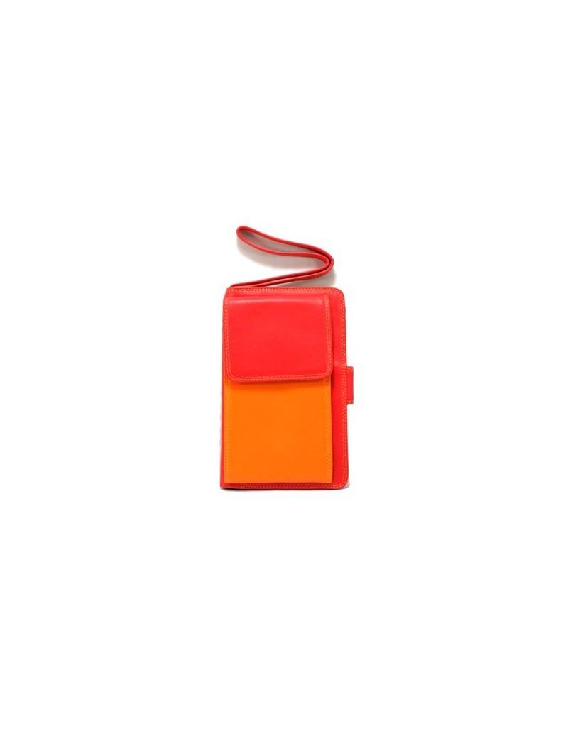Porte gsm en cuir coloré