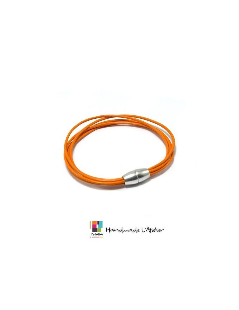 Bracelet avec 5 lacets de cuir