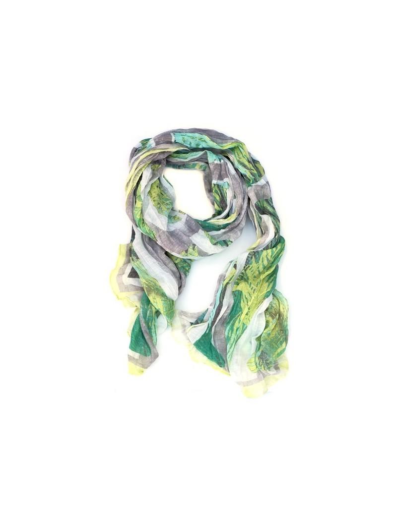 Foulard feuilles colorées