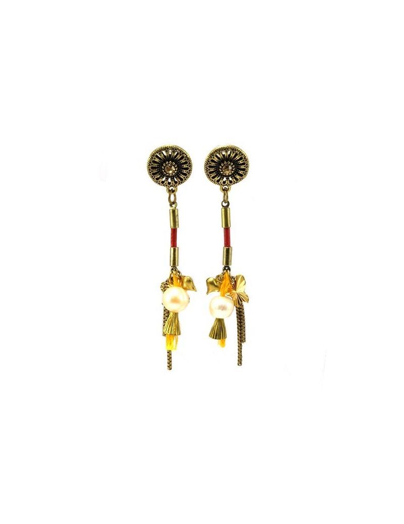 Présentoir de bijoux en métal argenté
