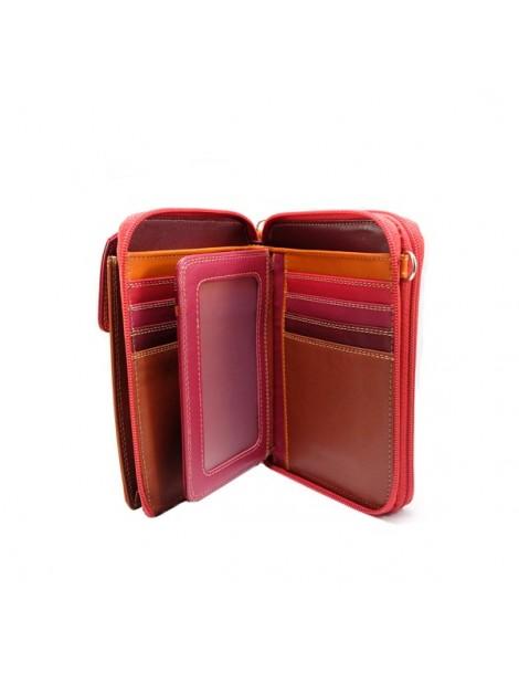 Boîte à bijoux en bois rose et doré