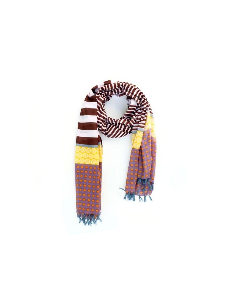 Foulard brun en coton