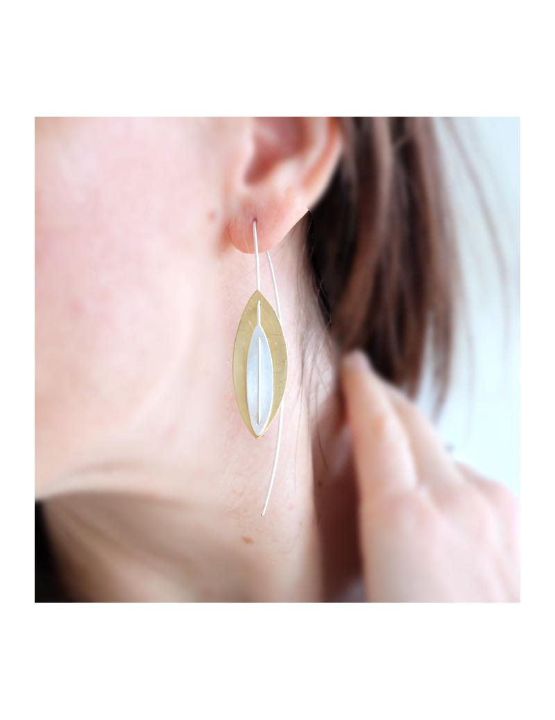 Collier turquoise de perles et chaînes