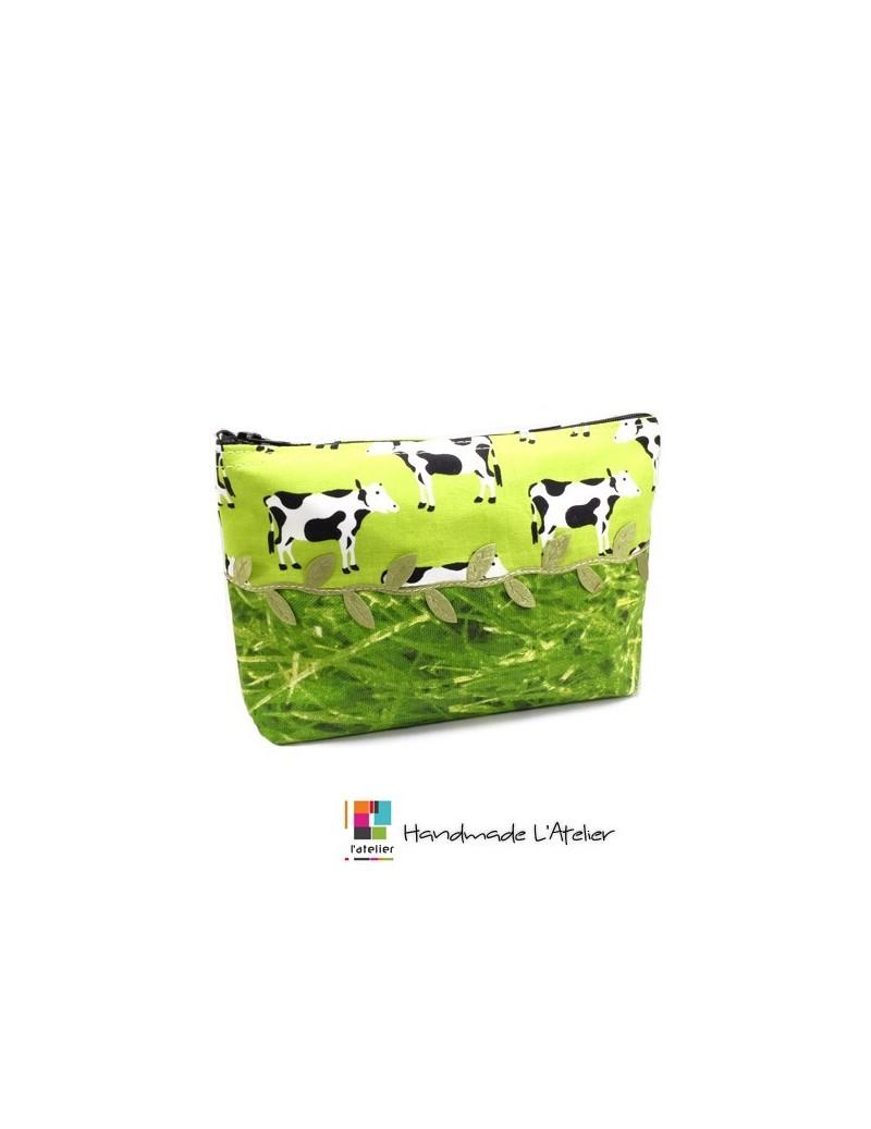 Trousse motif vache