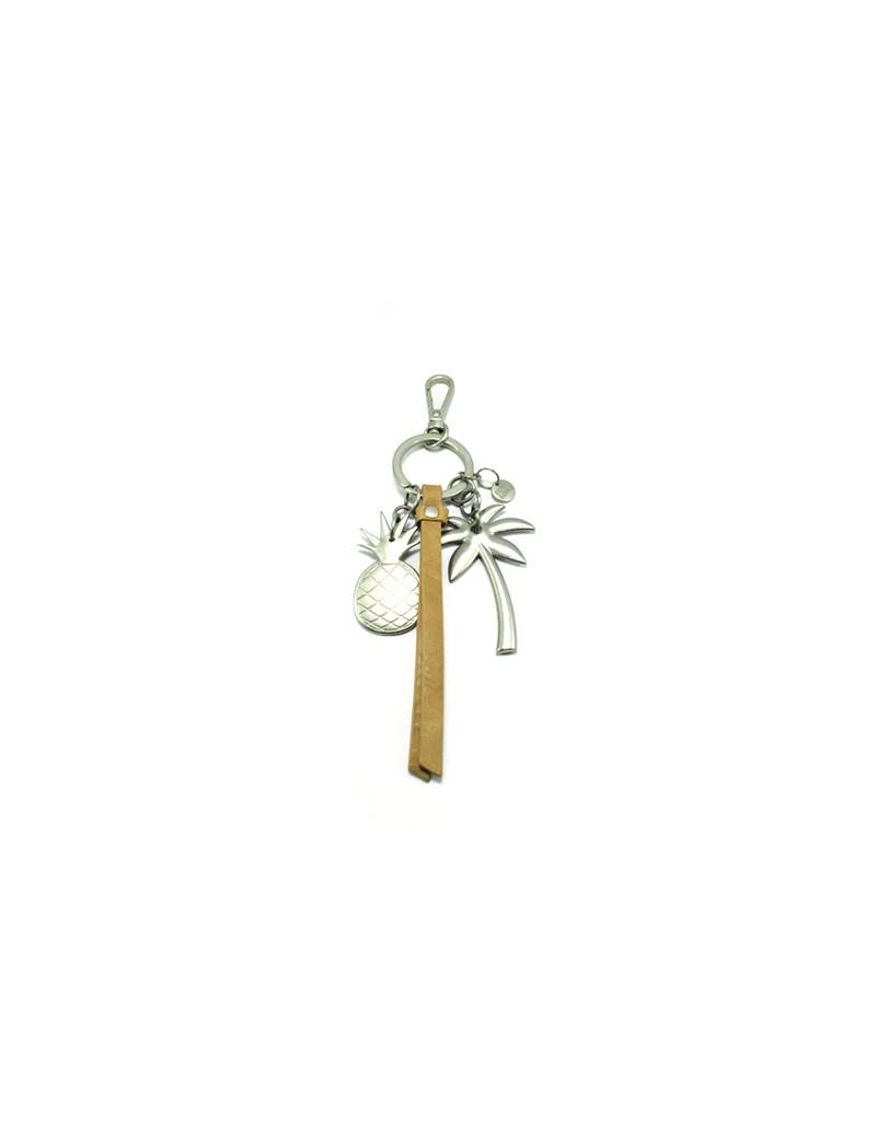 Porte-clés ananas en cuir