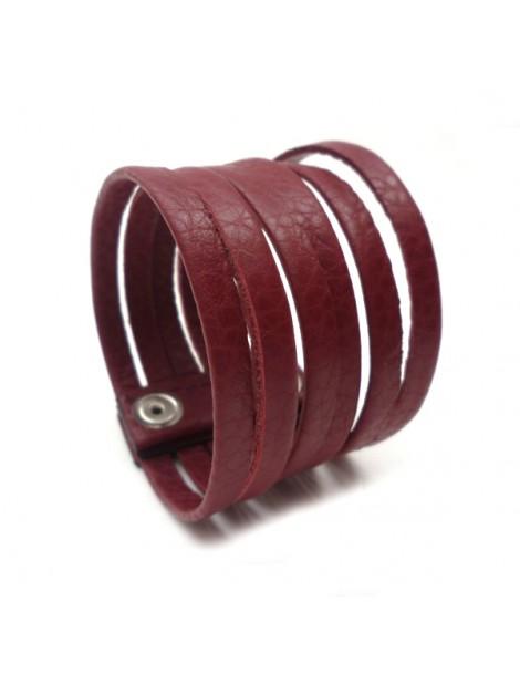 Boucle d'oreille en métal argenté mat et brillant