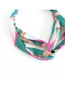 collier coloré en résine mat