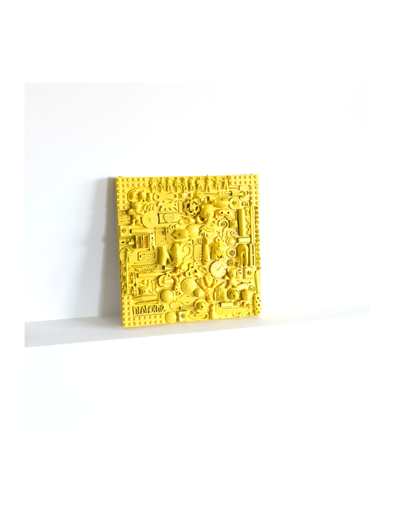 Yellow sculpture painting