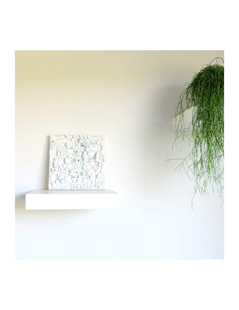 White sculpture painting
