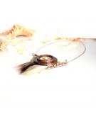 Bracelet en cuir cuivré