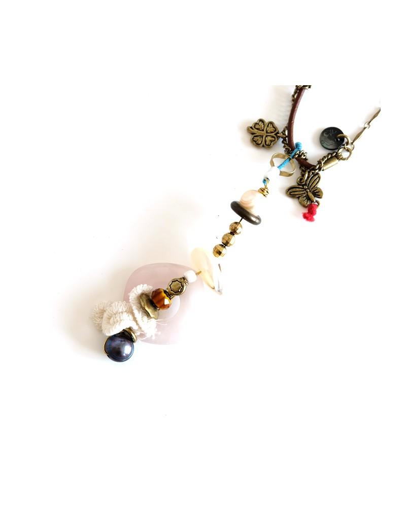 Boucles d'oreilles en verre de murano et argent